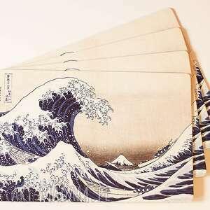 podkładka korkowa - wielka fala, hokusai, korek, dekoracje, japonia