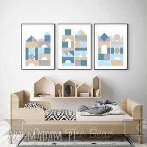 pokoik dziecka zestaw plakatÓw dla dzieci klocki a4, klocki, plakaty, obrazki, ozdoba