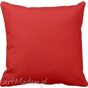 handmade poduszki poduszka ozdobna dekoracyjna czerwona gładka 6572