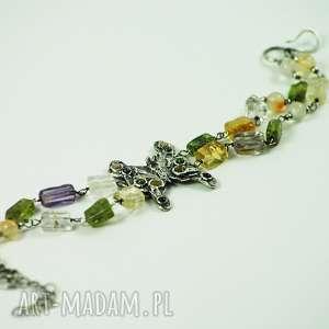 motyl, motylek, bransoletka, wiosna, kamienie, kolorowa