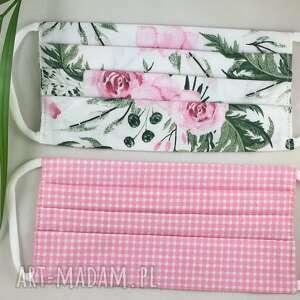 bawełniana maseczka wielorazowa zestaw 2 szt maseczek w - maseczka dla kobiety