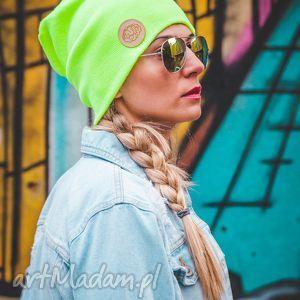 alternatywny neon mózg, jesień, zima, czapka, beanie