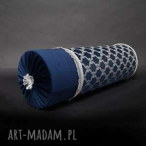 poduszki poduszka barok granat wałek 20x60cm, dekoracyjna, wałek, duży