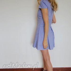 ręcznie wykonane sukienki sukienka morskie pasy