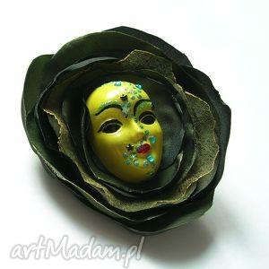 ręcznie zrobione broszki broszka z kolekcji masquerade - leśne runo