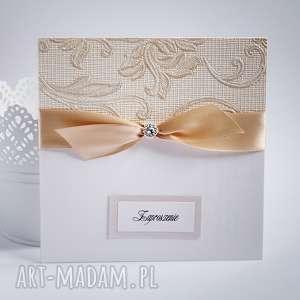 Zaproszenie ze złotym tłoczeniem, zaproszenia, ślubne, tłoczone, złote, eleganckie,