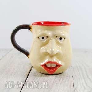 Prezent Kubek ceramiczny twarz , kawa, herbata, do-kawy, prezent, do-herbaty