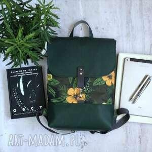 handmade plecak w kwiaty