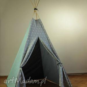 """Teepee gwiazdy """"b"""" - namiot do domu lub ogrodu pokoik dziecka"""