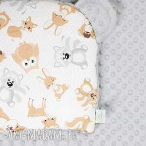 handmade pokoik dziecka zestaw niemowlaka misiaki szary