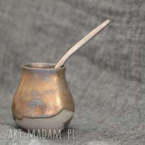 Małe matero - kopciuszek ceramika ziemia zu yerba, mate, unikat