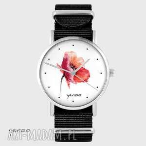 ręcznie zrobione zegarki zegarek - mak czarny, nato