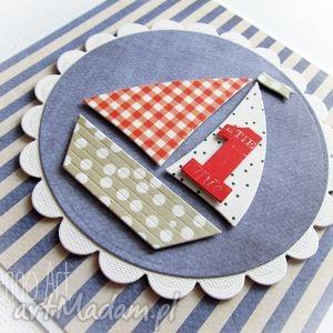 kartka dla małego żeglarza - żaglówka, kartka, urodzinowa