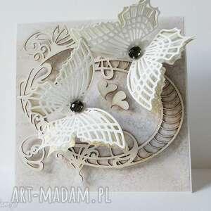 Z motylami - w pudełku, ślub, rocznica, gratulacje, życzenia, podziękowanie