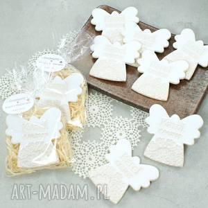 Podziękowania dla gości, aniołek, personalizowane, magnes, komunia, chrzest,
