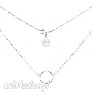 srebrny naszyjnik z dużą karmą - srebrne naszyjniki, zawieszka