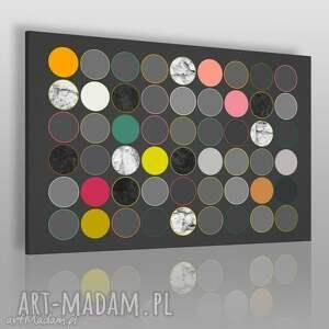 obraz na płótnie - abstrakcja koła 120x80 cm 31001 , koła, kolorowy
