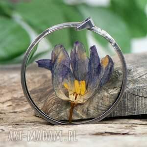 naszyjniki naszyjnik z tulipanem w żywicy z355, biżuteria na lato