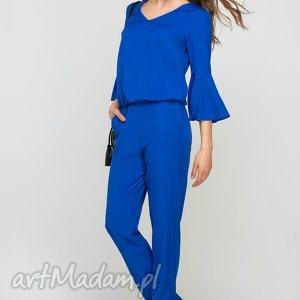 Kombinezon z falbanami, kb112 indygo spodnie lanti urban fashion
