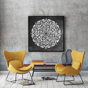 Mandala 50x50cm, plakat, plakaty, mandala, rysunek, obraz
