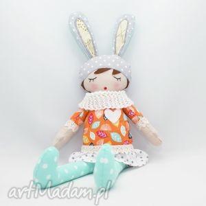 lala przytulanka laura śpioszka, 46 cm, lala, lalka, handmade, przytulanka, prezent