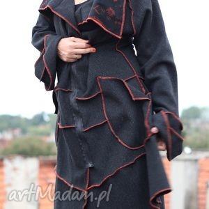 Ruda Klara, obłędny wełniany płaszcz u1