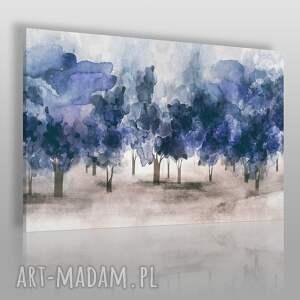 Obraz na płótnie - DRZEWA OBŁOKI NIEBIESKI 120x80 cm (88201), drzewa, obłoki, niebo