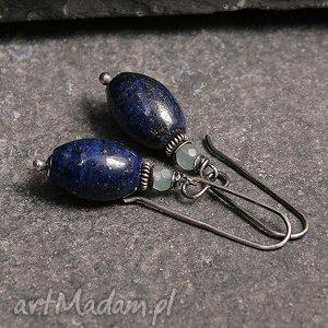 Prezent Lapis oliwki, lapis, lazuli, jadeit, srebro, oksydowane, prezent
