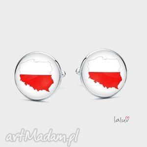 spinki do mankietów polska - flaga, naród, patriotyczne, narodowe, granica, symbol