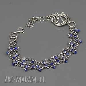 kobaltowy lapis lazili - bransoletka gilaras, bransoletka, srebro, lazuli