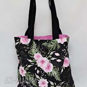 handmade torba na zakupy shopperka ekologiczna zakupowa ramię eko siatka bawełniana