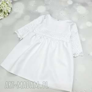 handmade sukeinka z koronka biała