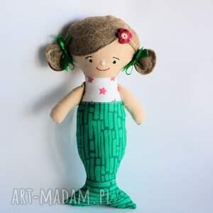lalka - monika syrenka 30 cm, lalka, szmacianka, syrenka, morze, chrzciny