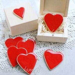 Walentynkowe serduszko, serce, walentynki, ceramika, magnes, pudełko, romantyczne