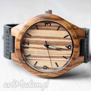 Drewniany zegarek ZEBRA CLASSIC, zegarek, zebrano, zebra, klasyczny