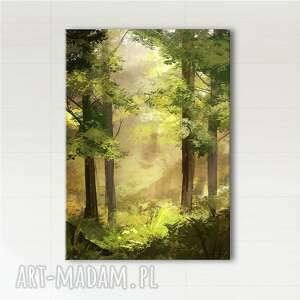 obraz - las wydruk na płótnie, obraz, las, natura, drzewa, prezent