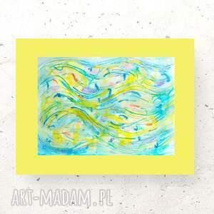 nowoczesny obraz na ścianę, abstrakcyjny rysunek do domu, akwarela sypialni, grafika