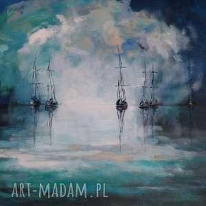 morze-obraz akrylowy formatu 40/30 cm, obraz, akryl, morze, łodzie