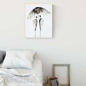 Obraz ręcznie malowany 40 x 50 cm, abstrakcja art krystyna siwek