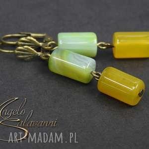 ~angelo~kolczyki AGAT PAWI naturalne kamienie, 5cm, kolczyki, kamień, agat, naturalny