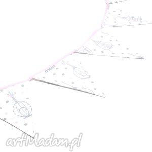Girlanda proporczyki chorągiewki 160 cm ptaszki w klatce