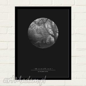 BLACK TREE Plakat 30x40, minimalizm