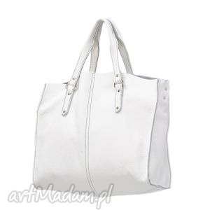 biała torebka skórzana rook 30-0025, torebki, torebka, kuferek, moda, dodatki