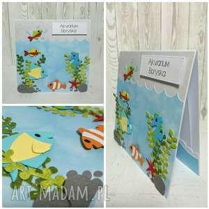 scrapbooking kartki kartka moje akwarium, rybka, morze, urodziny, konik, ocean