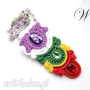hand made naszyjniki naszyjnik sutasz kolorowy