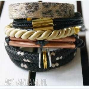 bransoletki komplet gold, bransoletki, komplety, rockowe biżuteria