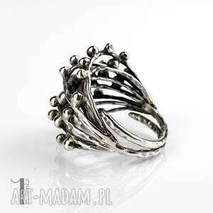 danu - srebrny pierścień miechunka - pierścionek regulowany