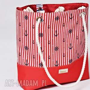 torebki torba plażowa, duża wodoodporna na plażę, marynarska