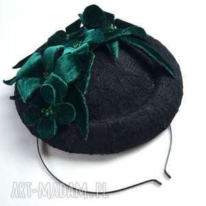 pod choinkę prezent, koronkowa dama, koronka, czarny, kwiaty, welur, zieleń