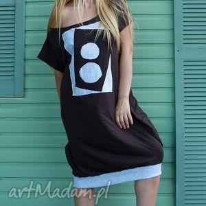 Bombka z Domino-sukienka, orydinalna, sukienka, wygodna, luzna, midi
